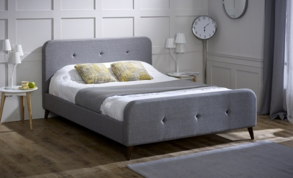 bed Limelight-Tucana-Ash-Grey-Fabric-Bed-Frame